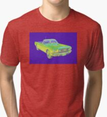 1965 Ford Mustang Convertible Pop Image Tri-blend T-Shirt