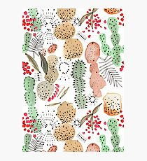 Cacti Watercolour Photographic Print