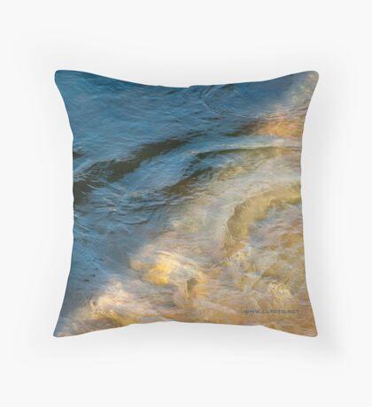 Sun and Shadow, Talvera River, Bolzano/Bozen, Italy Throw Pillow