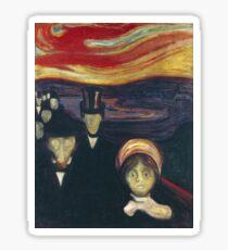 Edvard Munch - Anxiety Sticker