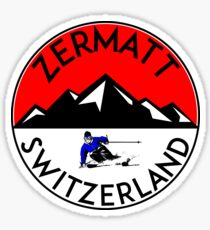 ZERMATT SWITZERLAND Mountain Skiing Ski Snowboard Snowboarding 3 Sticker