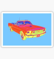 1965 Ford Mustang Convertible Pop Image Sticker