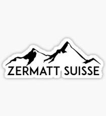 ZERMATT SWITZERLAND Suisse Mountain Skiing Ski Snowboard Snowboarding 5 Sticker
