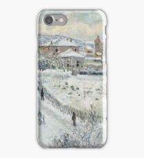 Claude Monet - View Of Argenteuil In The Snow iPhone Case/Skin