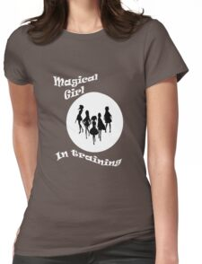 Magical girl in training -  Madoka magica -  black version Womens Fitted T-Shirt