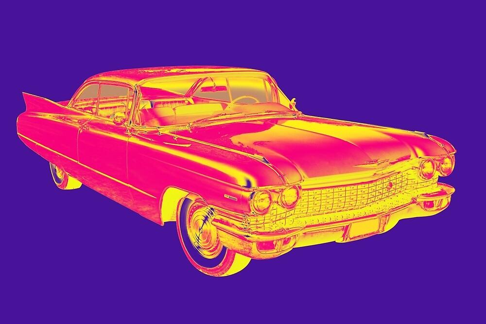 1960 Cadillac Luxury Car Pop Image by KWJphotoart