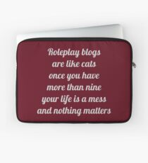 Roleplay Blogs Laptop Sleeve