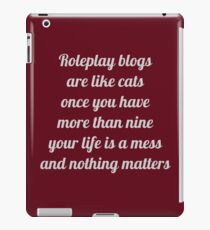 Roleplay Blogs iPad Case/Skin