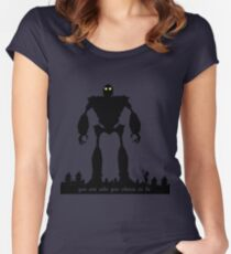 Iron Giant - Choose Who You are Fitted Scoop T-Shirt