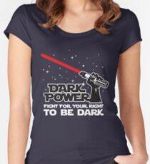 Dark power Women's Fitted Scoop T-Shirt