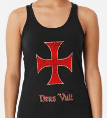 Deus Vult Crusader Templar Cross Racerback Tank Top