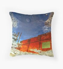 Red Sentinel Throw Pillow