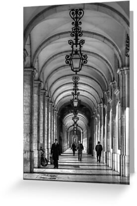 Arcade - Praça do Comérco: Lisbon, Portugal by Ursula Rodgers Photography