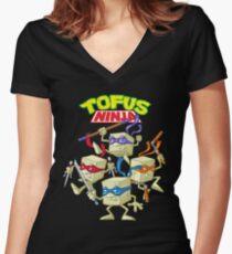 Tofus ninja Women's Fitted V-Neck T-Shirt