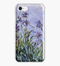 Claude Monet - Iris Mauves  iPhone Case/Skin