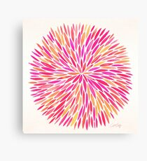 Watercolor Burst – Pink Ombré Canvas Print