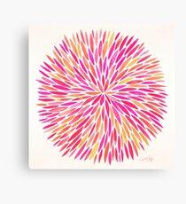 Watercolor Burst – Pink Ombré Canvas Print