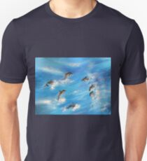 Danc'n Dolphins......Surf's Dolphins Unisex T-Shirt