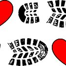 HIKING I LOVE TO HIKE HIKER HEARTS BOOTS by MyHandmadeSigns