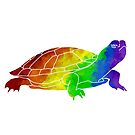 Rainbow Freshwater Turtle by moietymouse
