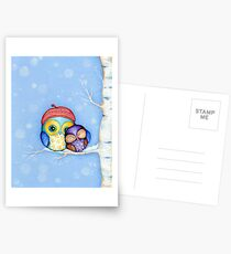 Owl in a Little Red Beret Postcards