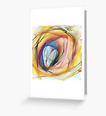 Fantasy gate to the dreams, abstract Greeting Card