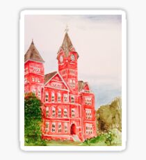 Samford Hall Auburn University Alabama Water Color/Acrylic Sticker