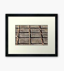 wooden walkway Framed Print