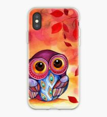Owl's First Fall Leaf iPhone-Hülle & Cover