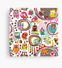 Cute Owls Canvas Print