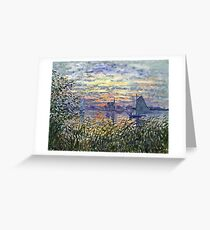 Claude Monet - Marine View With A Sunset 1875  Greeting Card