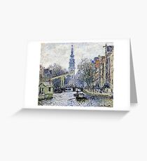 Claude Monet - Canal Amsterdam  Greeting Card