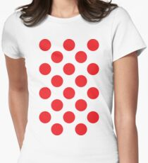 Red Polka Dot (King of the Mountains) Women's Fitted T-Shirt