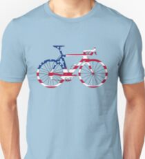 Bike Flag USA (Big) Unisex T-Shirt