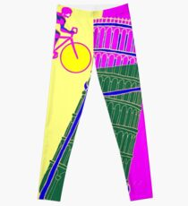 """GIRO D ITALIA BICYCLE"" Racing Advertising Print Leggings"