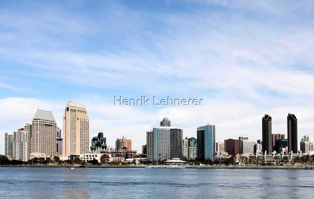 San Diego Skyline by Henrik Lehnerer