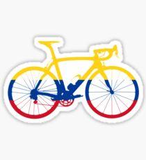 Bike Flag Colombia (Big) Sticker