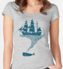 Exhaling flotsam Women's Fitted Scoop T-Shirt