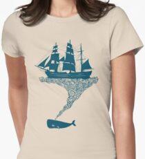 Exhaling flotsam Women's Fitted T-Shirt