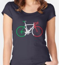 Bike Flag Italy (Big) Women's Fitted Scoop T-Shirt