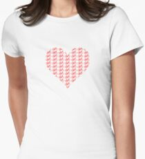 Bike Heart (Red) (Small) T-Shirt