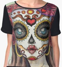Day of the Dead Women's Chiffon Top