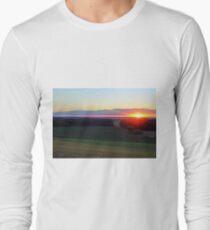 Sunset Over An Empty Field Long Sleeve T-Shirt