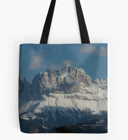 Snow on the Dolomites, Bolzano/Bozen, Italy Tote Bag