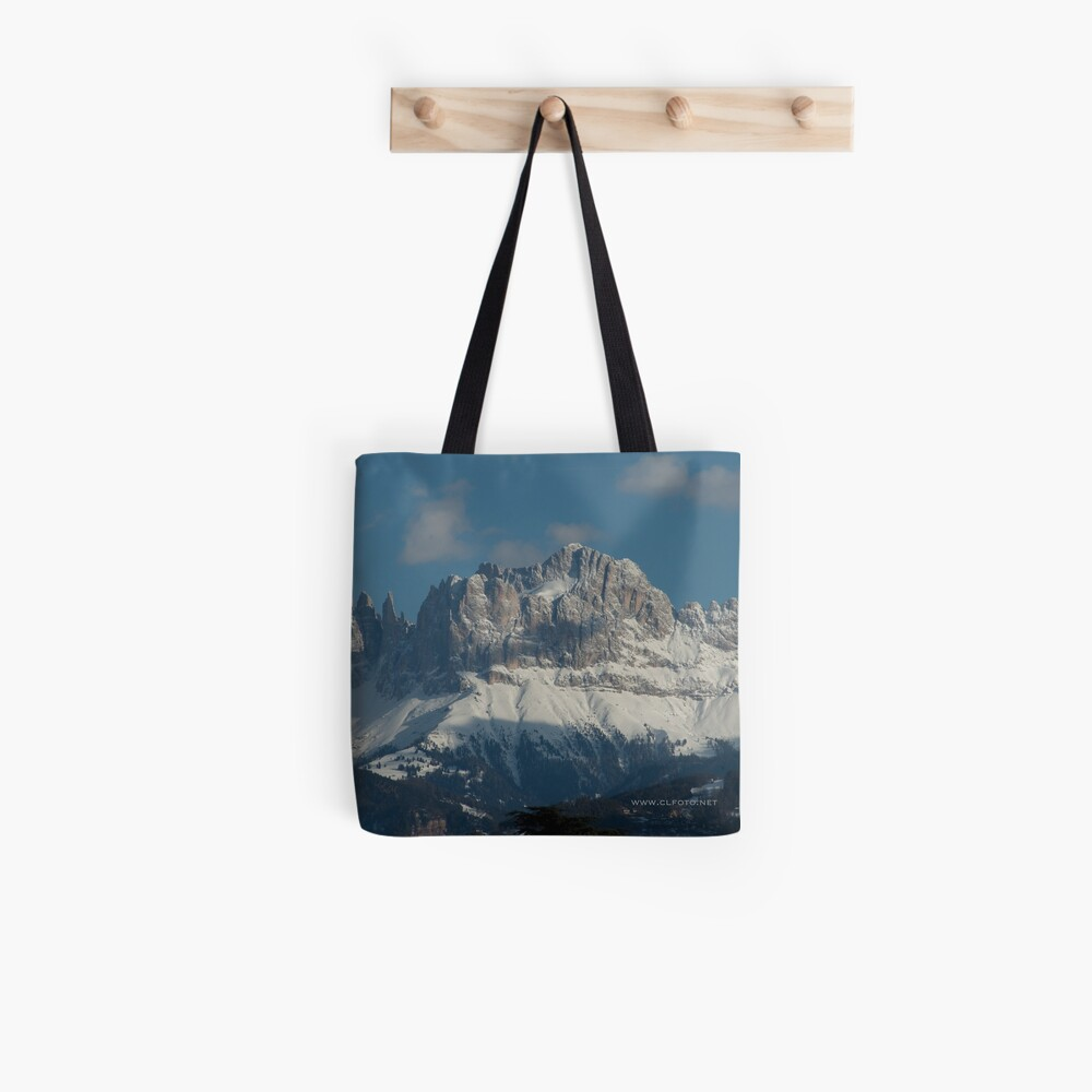 Snow on the Dolomites, Bolzano/Bozen, Italy Tote Bag
