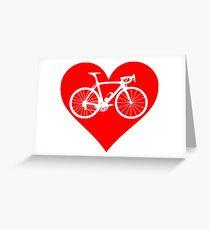 Bike Heart (Red) (Big) Greeting Card