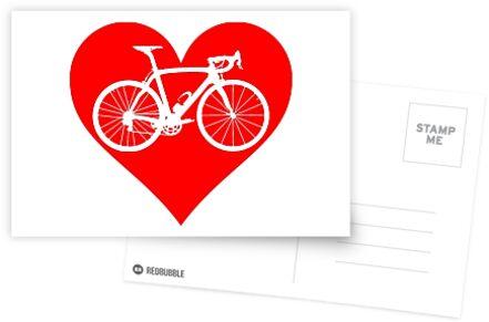 Bike Heart (Red) (Big) von sher00