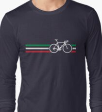 Bike Stripes Italian National Road Race v2 Long Sleeve T-Shirt
