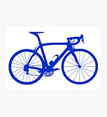 Bike Blue (Big) Photographic Print