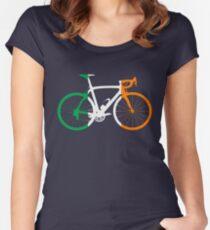 Bike Flag Ireland (Big) Women's Fitted Scoop T-Shirt